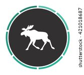moose simple flat white vector...