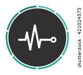 pulse simple flat white vector... | Shutterstock .eps vector #421024573