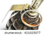 fragmentation grenade isolated... | Shutterstock . vector #421025077