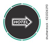 hotel simple flat white vector...