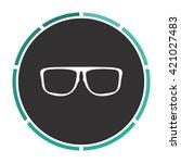 glasses simple flat white...