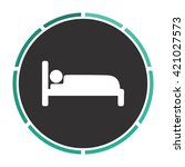 bed simple flat white vector...