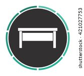 table simple flat white vector...
