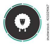 sheep simple flat white vector...