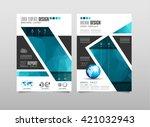 brochure template  flyer design ... | Shutterstock .eps vector #421032943
