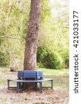Bench Around Oak Tree Stem