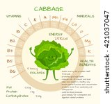 infographics about nutrients in ... | Shutterstock .eps vector #421037047