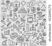 sketch icons set business ... | Shutterstock .eps vector #421040173