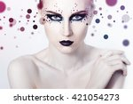 beauty fashion model girl with... | Shutterstock . vector #421054273