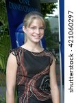 Small photo of Alyson Morgan at the Los Angeles premiere of 'Tiger Cruise' held at the DGA Theatre in Los Angeles, USA on July 27, 2004.