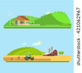 set vector illustration eco... | Shutterstock .eps vector #421062967