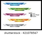 web   graphic lower third ... | Shutterstock .eps vector #421078567