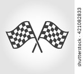 Vector Checkered Flags Icons...