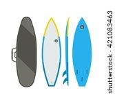 surfboard set. flat design... | Shutterstock .eps vector #421083463
