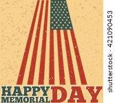 memorial day. vector... | Shutterstock .eps vector #421090453