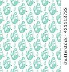 seamless pattern of a cute...   Shutterstock .eps vector #421113733