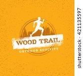 outdoor adventure trail... | Shutterstock .eps vector #421135597