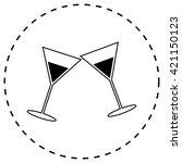 martini glass | Shutterstock .eps vector #421150123
