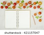 cooking ingredients with a...   Shutterstock . vector #421157047