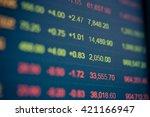 display of stock market quotes | Shutterstock . vector #421166947