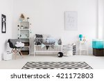 shot of a bright baby room... | Shutterstock . vector #421172803