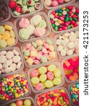 sweets on a table. | Shutterstock . vector #421173253