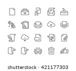 simple set of document related... | Shutterstock .eps vector #421177303