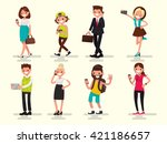 mobile dependence. people with... | Shutterstock .eps vector #421186657