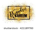 hand sketched ramadan kareem... | Shutterstock .eps vector #421189783