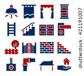 house parts icon set | Shutterstock .eps vector #421191007