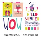 all for summer holidays. vector ... | Shutterstock .eps vector #421193143