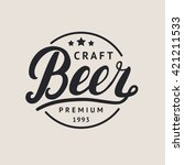 craft beer logo  label. beer... | Shutterstock .eps vector #421211533
