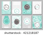 flowers creative cards template.... | Shutterstock .eps vector #421218187