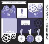 wedding set.  label  card ...   Shutterstock .eps vector #421224643