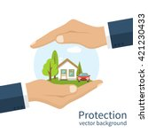 concept security of property.... | Shutterstock .eps vector #421230433