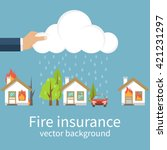 Fire Insurance Concept  Safety...