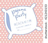 pajama party invitation
