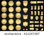 label vector icon set gold... | Shutterstock .eps vector #421247287
