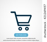 shopping cart icon | Shutterstock .eps vector #421269457