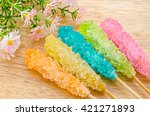 Many Colorful Sugar Crystal...