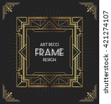 art deco frame design for your... | Shutterstock .eps vector #421274107