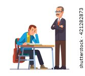 professor or teacher looking... | Shutterstock .eps vector #421282873