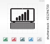 notebook with the schedule icon | Shutterstock .eps vector #421296733