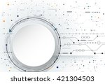 vector abstract futuristic... | Shutterstock .eps vector #421304503