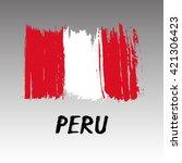 flag of peru   grunge | Shutterstock .eps vector #421306423