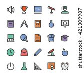 education vector icons 1 | Shutterstock .eps vector #421309987