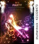 guitar grunge music party disco ... | Shutterstock .eps vector #421328473
