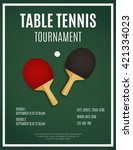 ping pong tournament. table... | Shutterstock .eps vector #421334023