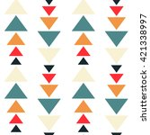 colorful triangles seamless... | Shutterstock .eps vector #421338997