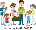 family  bbq | Shutterstock . vector #421341253
